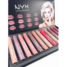 Набор жидкая матовая помада NYX Lip Gloss Suite 12 шт