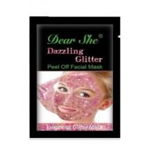 Маска Dear She Peel Off Facial Mask Glitter розовое золото