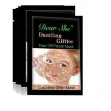 Маска Dear She Peel Off Facial Mask Glitter золото